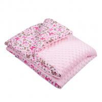 Deka z Minky s výplňou New Baby , Barva - Ružová , Rozměr textilu - 80x100