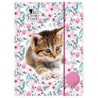 DESKY NA SEŠITY CLEO A FRANK kočka , Barva - Bílo-růžová