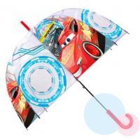 Deštník Cars průhledný , Barva - Modro-červená