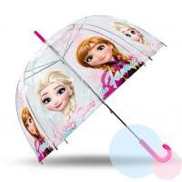 Deštník Frozen průhledný , Barva - Ružová