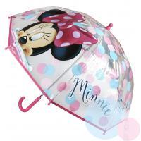 Dáždnik Minnie Mouse. , Barva - Malinová