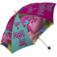 Dáždnik Trollovia Poppy skladací , Barva - Ružová
