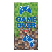 Osuška Game Over , Barva - Zelená , Rozměr textilu - 70x140