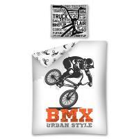 Povlečení BMX  , Rozměr textilu - 140x200 , Barva - Bielo-čierna