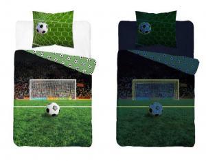 Povlečení Fotbal svítící , Barva - Zelená , Rozměr textilu - 140x200