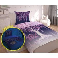Obliečky Magic svietiaci , Barva - Fialová , Rozměr textilu - 140x200