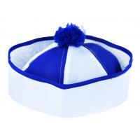 Čepice Námořník s bambulkou , Barva - Bielo-modrá