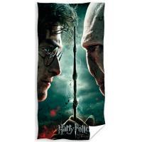 Osuška Harry Potter a Voldemort , Barva - Tmavo zelená , Rozměr textilu - 70x140