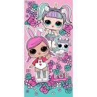 Osuška LOL Surprise Bunnies , Barva - Ružová , Rozměr textilu - 70x140