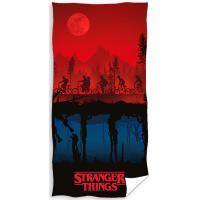 Osuška Stranger Things , Barva - Černo-červená , Rozměr textilu - 70x140