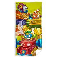 Osuška Super Zings Robots , Barva - Zelená , Rozměr textilu - 70x140