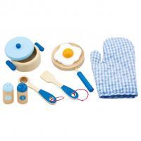 Dřevěné nádobí Viga - snídaně , Barva - Modrá