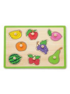 Dřevěné puzzle s úchyty Viga Ovoce