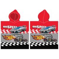 Pončo Hot Wheels Speed , Barva - Červená , Rozměr textilu - 50x115