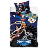 Obliečky DC Super Friends , Barva - Tmavo modrá , Rozměr textilu - 140x200