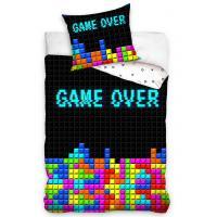 Povlečení Game Over , Barva - Černo-bílá , Rozměr textilu - 140x200