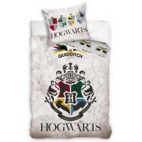 Povlečení Harry Potter Famfrpálové Týmy , Barva - Šedá , Rozměr textilu - 140x200