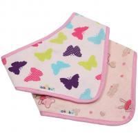 Bryndáček - šátek Motýl - myška 2 ks , Barva - Ružová