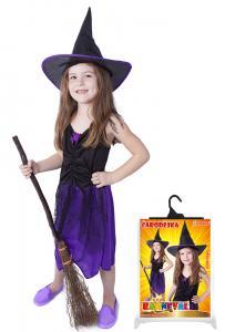 Kostým Čarodejnica fialová s klobúkom , Velikost - S , Barva - Fialová