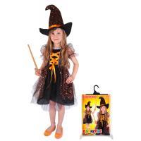 Kostým na halloween Čarodejnica hviezdička , Velikost - L , Barva - Čierna
