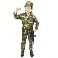 Kostým Vojak Woodland , Velikost - M , Barva - Zelená