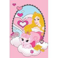 Ručník Princezny , Rozměr textilu - 40x60 , Barva - Ružová