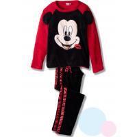 Pyžamo Mickey - fleec , Dospělé velikosti - M , Barva - Černo-červená