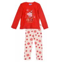 Pyžamo PEPPA PIG vánoce , Velikost - 104 , Barva - Červená