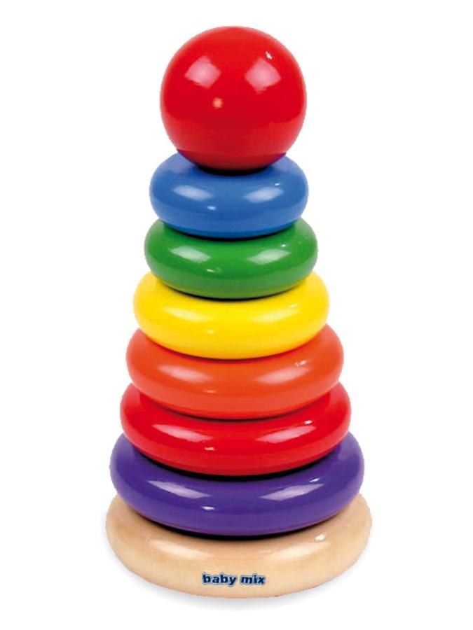 detská drevená hračka veža d4928ed518