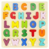 Dřevěné puzzle Baby Mix Písmena , Barva - Barevná