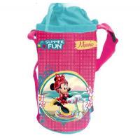 Držiak na fľašu Minnie Mouse , Barva - Malinová
