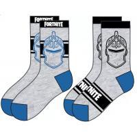 PONOŽKY FORTNITE 2ks , Velikost ponožky - 27-30 , Barva - Šedá