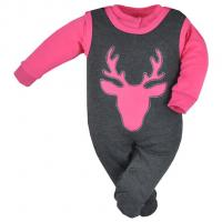 Dupačky a kabátek Koala Deer , Barva - Ružová , Velikost - 56