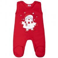 Dupačky New Baby Winter Penguin , Barva - Červená , Velikost - 56