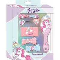 Doplňky do vlasů v dárkové krabičce Jednorožec , Barva - Ružová