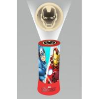 Projektor Lampička Avengers LED , Barva - Červená