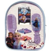 Sada vlasových doplňků v batůžku Ledové Království 2 , Barva - Fialová