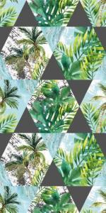 Osuška Palmy , Barva - Zelená , Rozměr textilu - 70x140