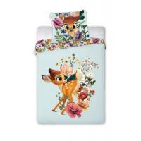 Obliečky do postieľky Bambi , Barva - Světlo modrá , Rozměr textilu - 100x135