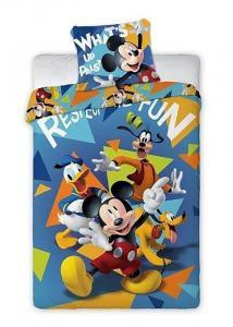 Povlečení Mickey fun , Rozměr textilu - 140x200 , Barva - Modrá