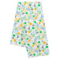 Plena s potiskemGeometrický tvar , Rozměr textilu - 70x80 , Barva - Bielo-zelená