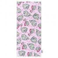 Flanelová plena Delfín , Rozměr textilu - 70x80 , Barva - Ružová
