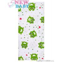 Flanelová plena Žabičky , Barva - Bielo-zelená , Rozměr textilu - 70x80