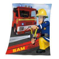 Deka Požárník Sam , Barva - Barevná , Rozměr textilu - 130x160