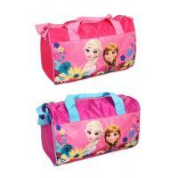 Sportovní taška Frozen , Barva - Modro-růžová
