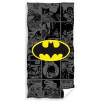 Osuška Batman Story , Barva - Tmavo šedá , Rozměr textilu - 70x140