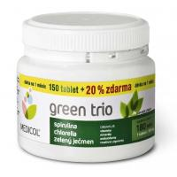 Green Trio 180 tablet , Velikost balení - 180 tabliet