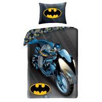 Povlečení Batman na motorce , Rozměr textilu - 140x200 , Barva - Modro-šedá