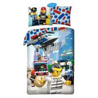 Povlečení Lego Policie , Barva - Světlo modrá , Rozměr textilu - 140x200