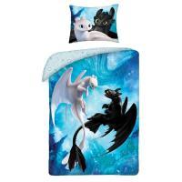 Povlečení ve vaku Jak vycvičit draka , Barva - Modrá , Rozměr textilu - 140x200